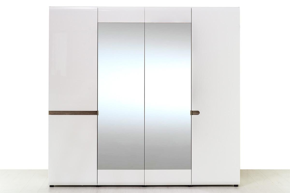 Шкаф для одежды 4Д (Linate 4D/ TYP 23 А) коллекции Линате, Белый, Анрэкс (Беларусь)