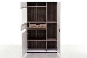 Шкаф витрина 3Д (Linate 3D-1S/TYP 32), коллекции Линате, Белый, Анрэкс (Беларусь), фото 2
