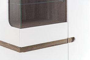 Шкаф витрина 3Д (Linate 3D-1S/TYP 32), коллекции Линате, Белый, Анрэкс (Беларусь), фото 3