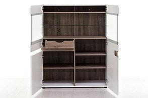 Шкаф витрина 3Д (Linate 3D-1S/TYP 33), коллекции Линате, Белый, Анрэкс (Беларусь), фото 2