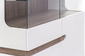 Шкаф витрина 3Д (Linate 3D-1S/TYP 33), коллекции Линате, Белый, Анрэкс (Беларусь), фото 3
