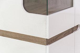 Шкаф витрина  3Д  (Linate 3D/TYP 01 L) коллекции Линате, Белый, Анрэкс (Беларусь), фото 2