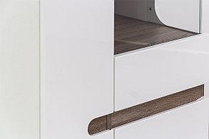 Шкаф витрина 3Д (Linate 3D/TYP 01 Р), коллекции Линате, Белый, Анрэкс (Беларусь), фото 2