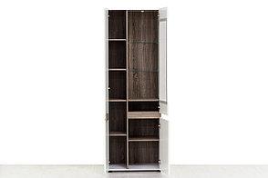 Шкаф витрина 3Д (Linate 3D/TYP 01 Р), коллекции Линате, Белый, Анрэкс (Беларусь), фото 3