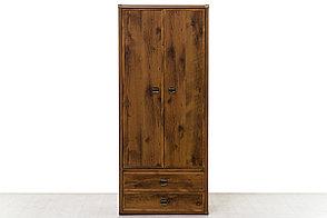 Шкаф для одежды 2Д (Magellan 2DG2S) коллекции Магеллан, Дуб Саттер, Анрэкс (Беларусь), фото 2