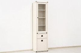 Шкаф витрина 2Д (Magellan 1V1D1S), коллекции Магеллан, Сосна Винтаж, Анрэкс (Беларусь)