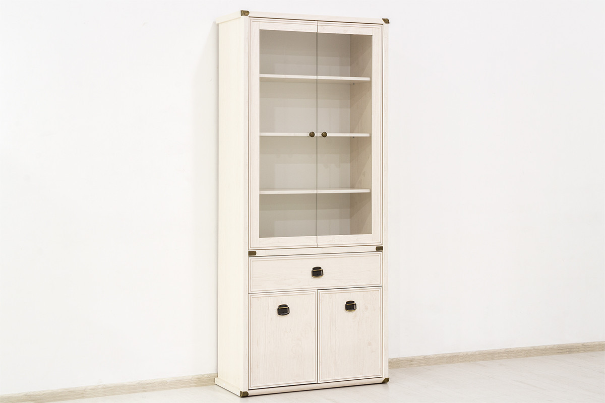 Шкаф витрина 4Д (Magellan 2V2D1S), коллекции Магеллан, Сосна Винтаж, Анрэкс (Беларусь)