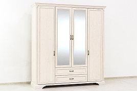 Шкаф для одежды 4Д  (Monako 4D2S), коллекции Монако, Сосна Винтаж, Анрэкс (Беларусь)