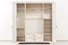 Шкаф для одежды 4Д (Monako 4D2S), коллекции Монако, Сосна Винтаж, Анрэкс (Беларусь), фото 2