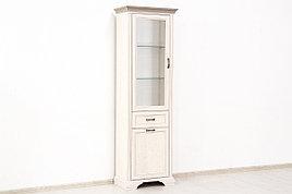 Шкаф витрина 2Д  (Monako 1V1D1S), коллекции Монако, Сосна Винтаж, Анрэкс (Беларусь)