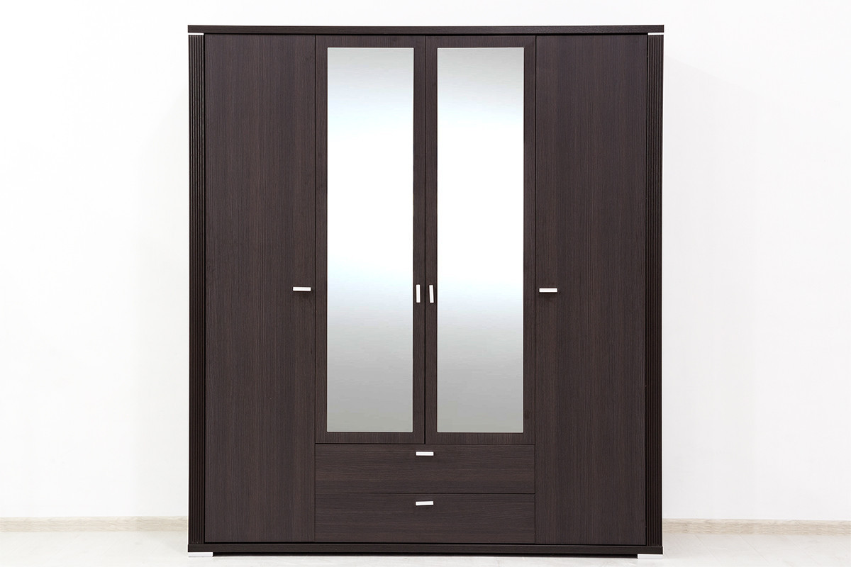Шкаф для одежды 4Д (Monte 4D2S) коллекции Монте, Дуб Ниагара, Анрэкс (Беларусь)
