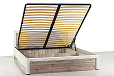 Кровать двуспальная (Olivia 160 с подъемником), коллекции Оливия, Дуб Анкона, Анрэкс (Беларусь), фото 2
