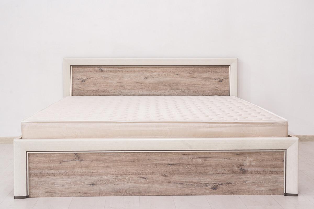 Кровать двуспальная (Olivia 180), коллекции Оливия, Дуб Анкона, Анрэкс (Беларусь)
