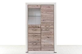 Шкаф витрина 3Д (Olivia 1V2D3S) коллекции Оливия, Дуб Анкона, Анрэкс (Беларусь)