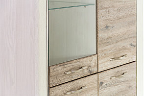 Шкаф витрина 3Д (Olivia 1V2D3S) коллекции Оливия, Дуб Анкона, Анрэкс (Беларусь), фото 3