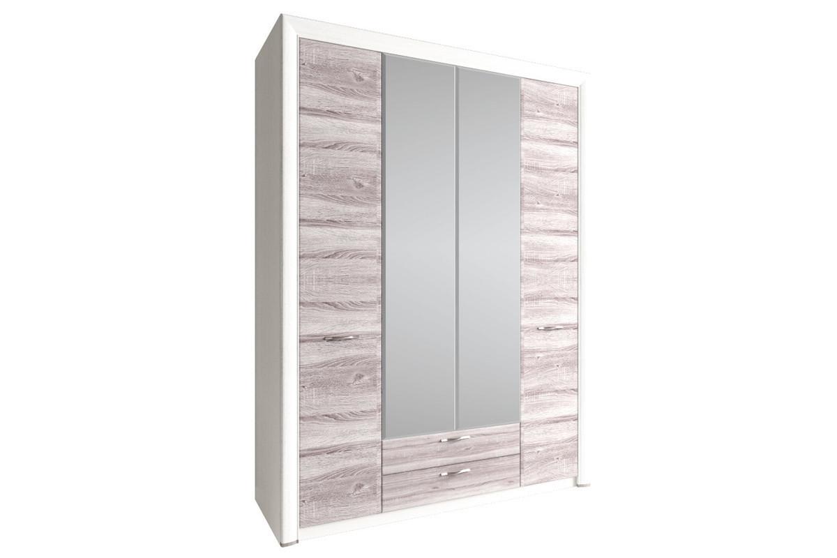 Шкаф для одежды 4Д (Olivia 4D2S Z), коллекции Оливия, Дуб Анкона, Анрэкс (Беларусь)