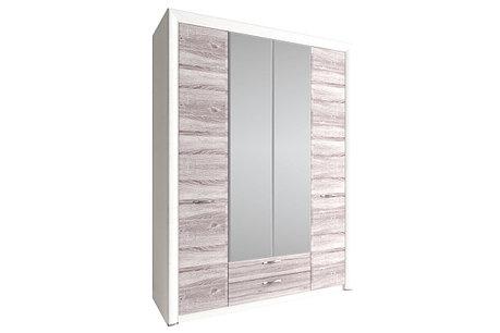 Шкаф для одежды 4Д (Olivia 4D2S Z), коллекции Оливия, Дуб Анкона, Анрэкс (Беларусь), фото 2
