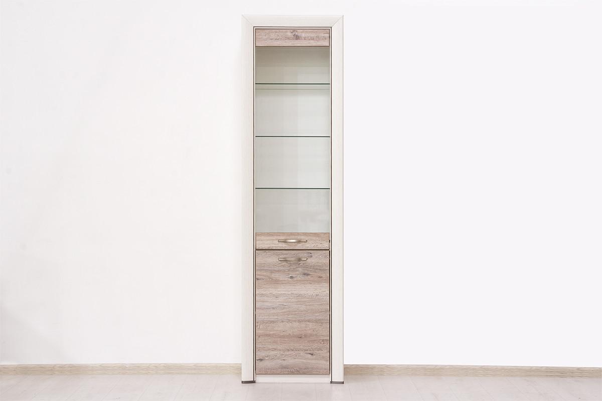 Шкаф витрина 2Д (Olivia 1V1D), коллекции Оливия, Дуб Анкона, Анрэкс (Беларусь)