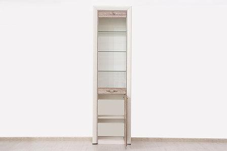 Шкаф витрина 2Д (Olivia 1V1D), коллекции Оливия, Дуб Анкона, Анрэкс (Беларусь), фото 2