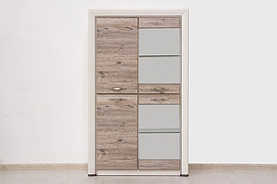 Шкаф витрина 4Д (Olivia 2V2D) коллекции Оливия, Дуб Анкона, Анрэкс (Беларусь), фото 2