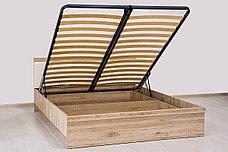 Кровать двуспальная (Oskar 160 с подъемником) с подъемным механизмом, коллекции Оскар, Дуб Санремо, Анрэкс, фото 2