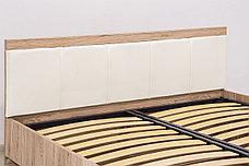 Кровать двуспальная (Oskar 160 с подъемником) с подъемным механизмом, коллекции Оскар, Дуб Санремо, Анрэкс, фото 3
