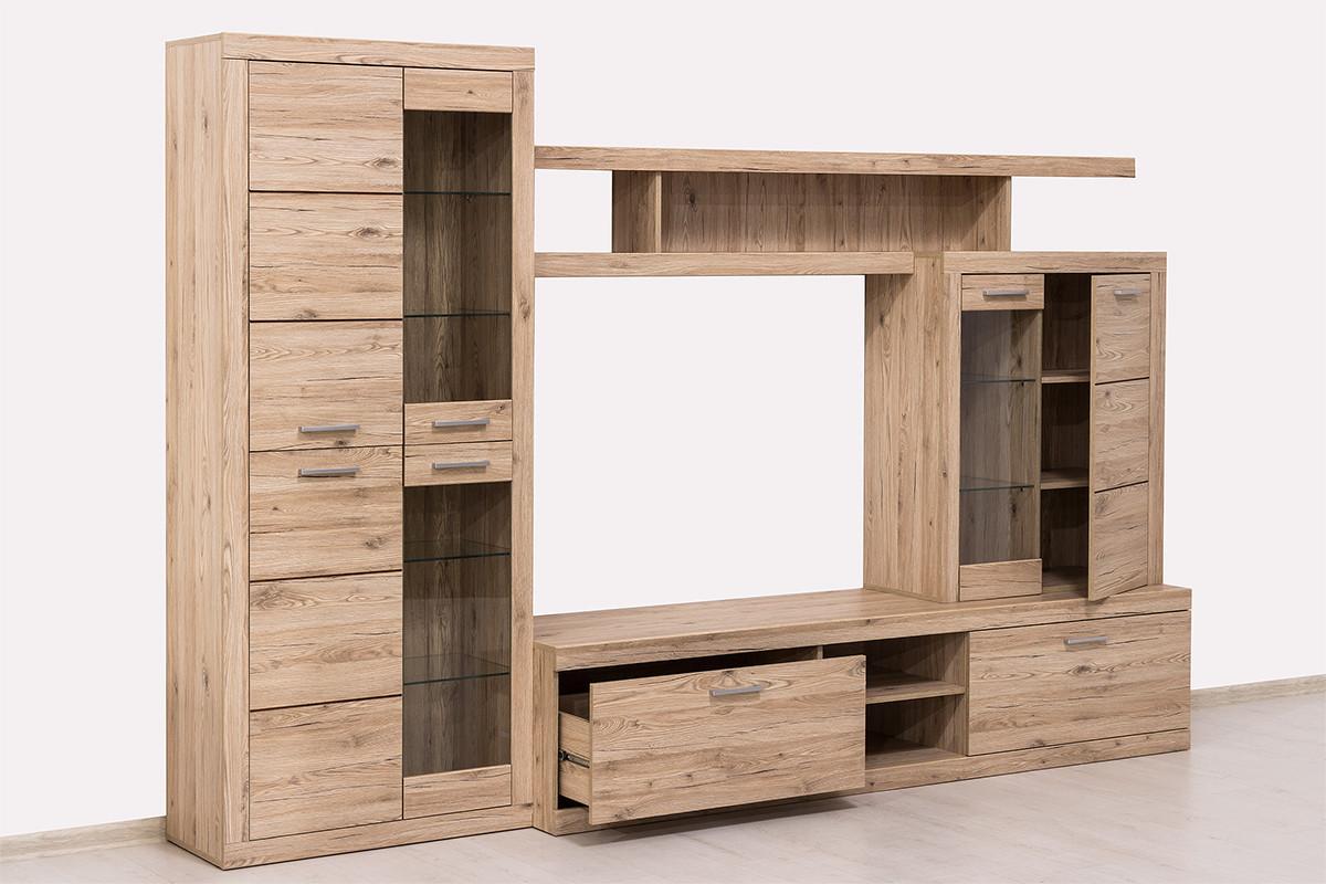 Шкаф витрина 4Д как часть комплекта Оскар, Дуб Санремо, Анрэкс (Беларусь)
