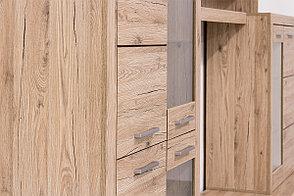 Шкаф витрина 4Д как часть комплекта Оскар, Дуб Санремо, Анрэкс (Беларусь), фото 3