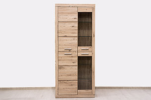 Шкаф витрина 4Д  (Oskar 2V2D), коллекции Оскар, Дуб Санремо, Анрэкс (Беларусь), фото 2