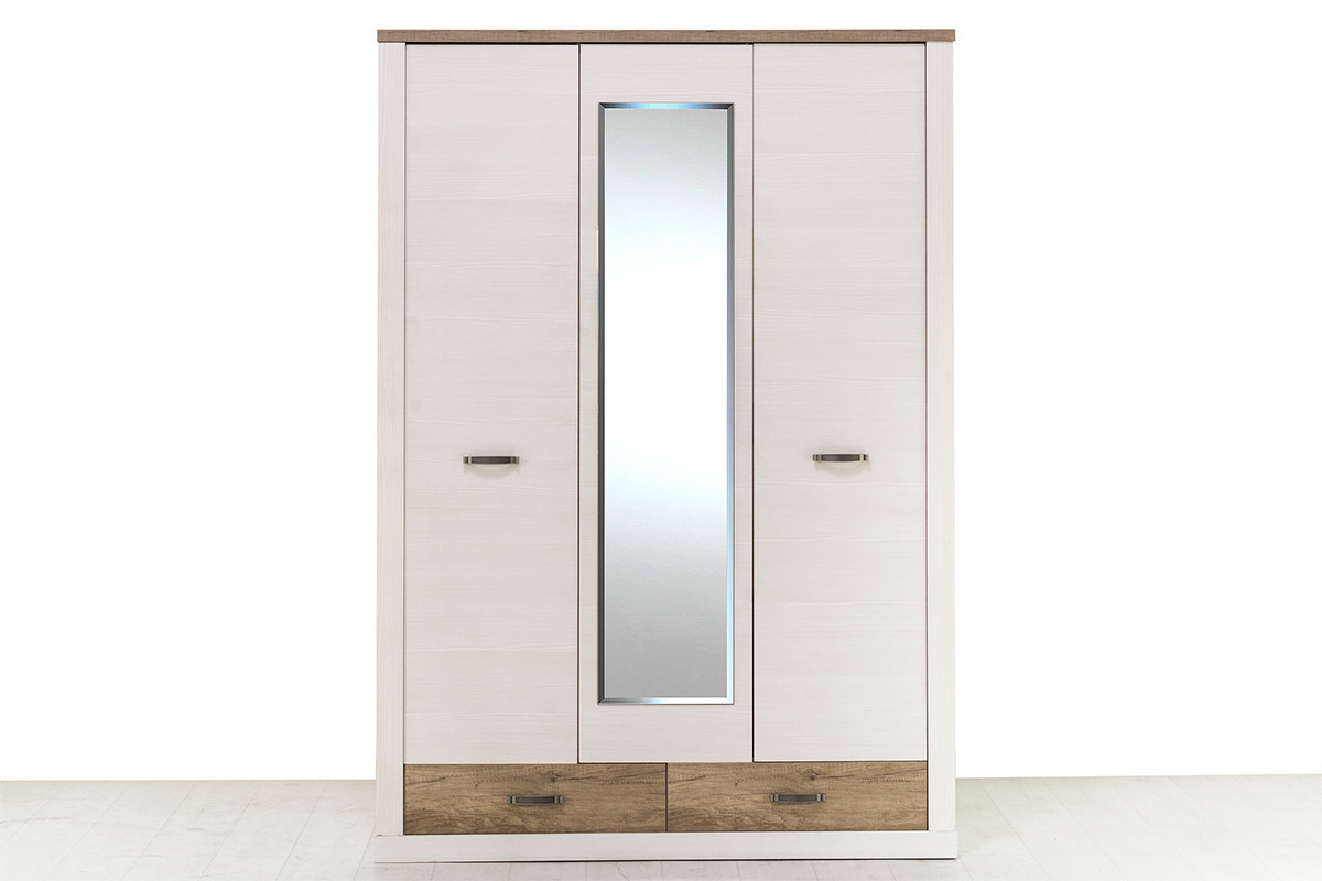 Шкаф для одежды 3Д (Provans 3DG2S) коллекции Прованс, Дуб Кантри, Анрэкс (Беларусь)
