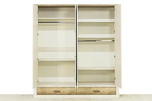 Шкаф для одежды 4Д (Provans 4DG2S Z), коллекции Прованс, Дуб Кантри, Анрэкс (Беларусь), фото 2