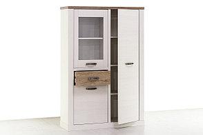 Шкаф витрина 3Д (Provans 1V2D1S), коллекции Прованс, Дуб Кантри, Анрэкс (Беларусь), фото 3