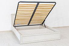 Кровать двуспальная (Tiffany 160 с подъемником), коллекции Тиффани, Вудлайн Кремовый, Анрэкс (Беларусь), фото 3