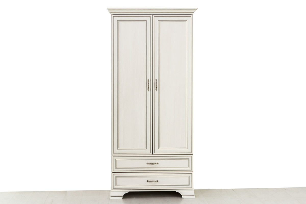 Шкаф для одежды 2Д (Tiffany 2DG2S), коллекции Тиффани, Вудлайн Кремовый, Анрэкс (Беларусь)