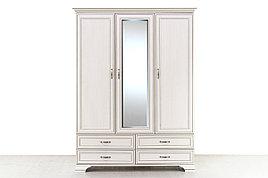 Шкаф для одежды 3Д  (Tiffany 3D4S), коллекции Тиффани, Вудлайн Кремовый, Анрэкс (Беларусь)