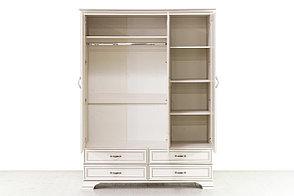 Шкаф для одежды 3Д (Tiffany 3D4S), коллекции Тиффани, Вудлайн Кремовый, Анрэкс (Беларусь), фото 3