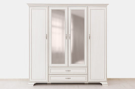 Шкаф для одежды 4Д  (Tiffany 4D2S), коллекции Тиффани, Вудлайн Кремовый, Анрэкс (Беларусь)