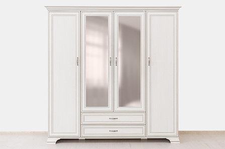 Шкаф для одежды 4Д (Tiffany 4D2S), коллекции Тиффани, Вудлайн Кремовый, Анрэкс (Беларусь), фото 2