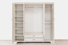 Шкаф для одежды 4Д (Tiffany 4D2S), коллекции Тиффани, Вудлайн Кремовый, Анрэкс (Беларусь), фото 3