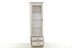 Шкаф витрина 1Д (Tiffany 1V2S), коллекции Тиффани, Вудлайн Кремовый, Анрэкс (Беларусь), фото 2