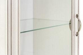 Шкаф витрина 1Д (Tiffany 1V2S), коллекции Тиффани, Вудлайн Кремовый, Анрэкс (Беларусь), фото 3