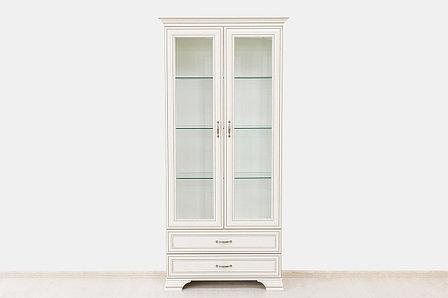 Шкаф витрина 2Д (Tiffany 2V2S), коллекции Тиффани, Вудлайн Кремовый, Анрэкс (Беларусь), фото 2