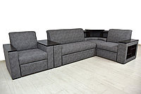 Комплект мягкой мебели Плаза 3, Серый, Нижегородмебель и К(Россия)
