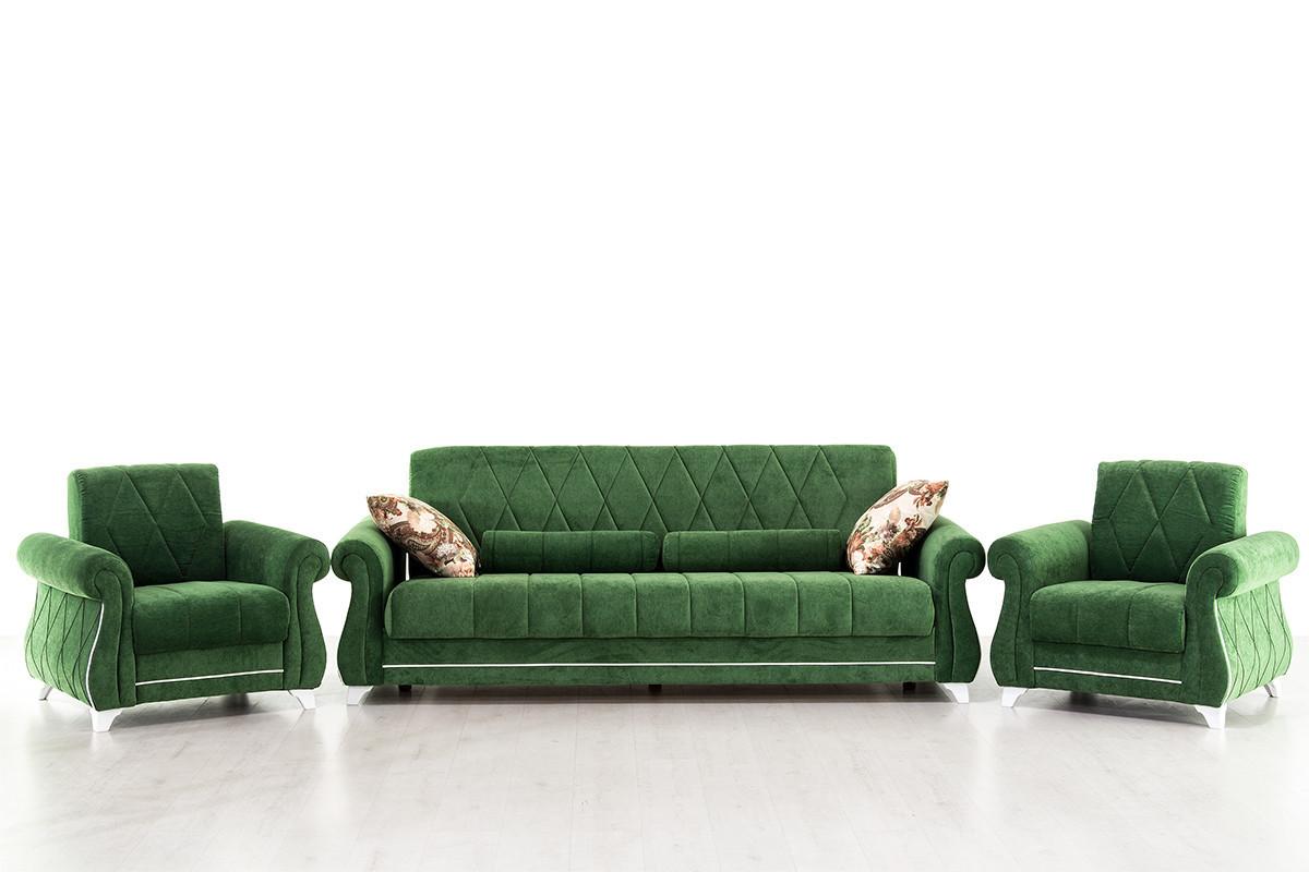 Комплект мягкой мебели Роуз, Зеленый, Нижегородмебель и К(Россия)