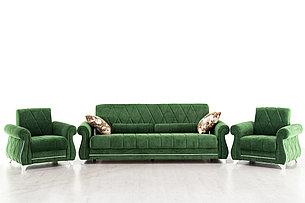Комплект мягкой мебели Роуз, Зеленый, Нижегородмебель и К(Россия), фото 2