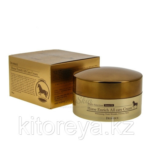 Deoproce Horse Enrich All Care Cream интенсивный и питательный крем для лица на сонове лошадинного жира