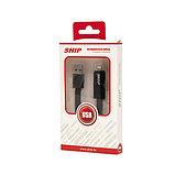 SHIP API08MUTBB Интерфейсный кабель MICRO USB/Apple 8pin, Трансформер, IOS 7, Чёрный, Блистер, 1 м, фото 3