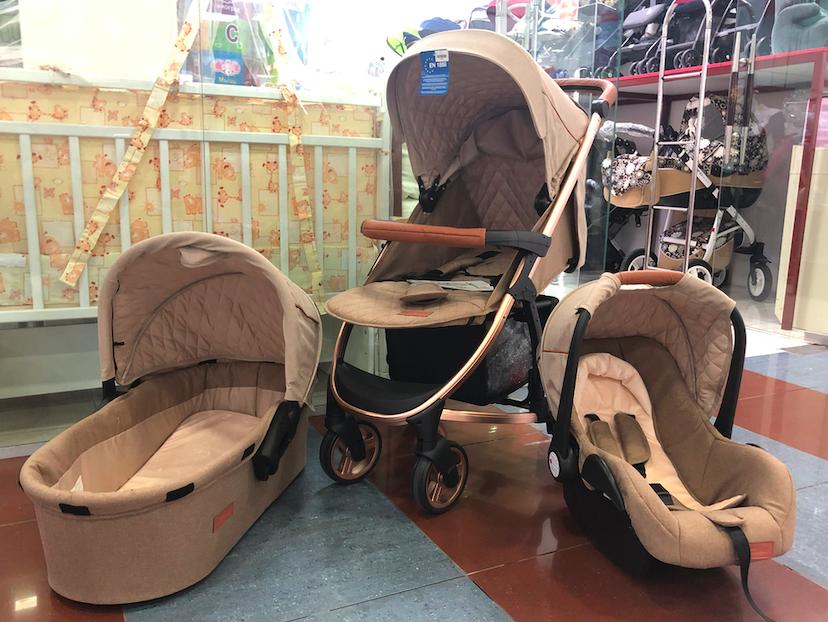 Детская коляска 3 в 1 Skillmax Biege