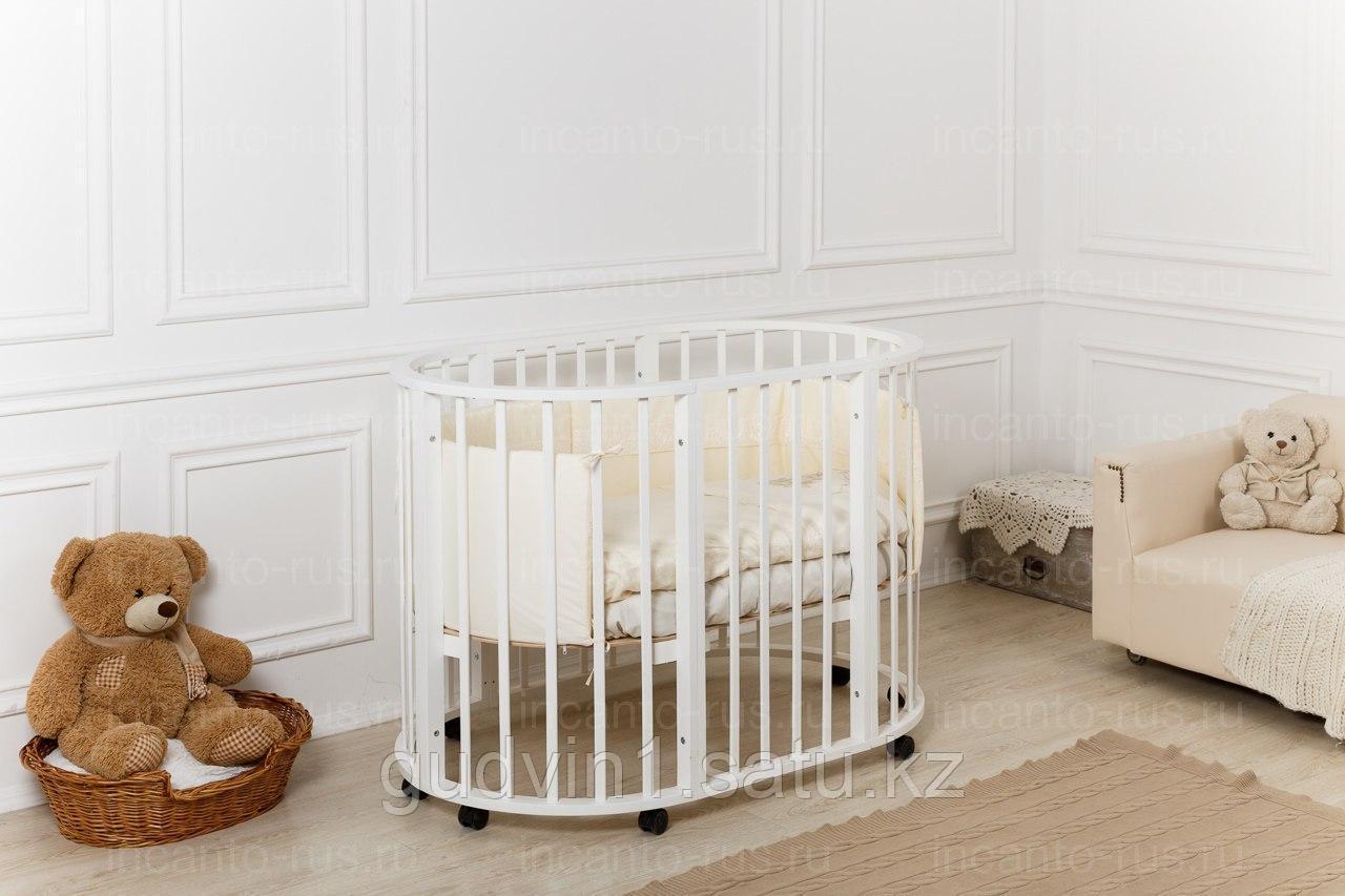 Кровать Incanto GIO Deluxe 8 в 1,поперечный маятник, цвет слоновая кость 00-77246