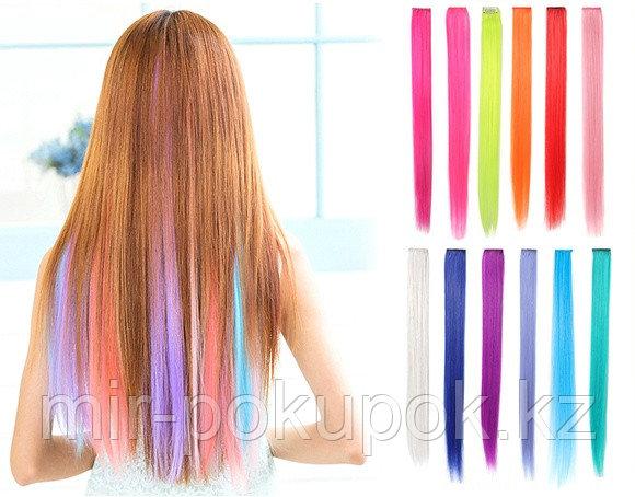 Искусственные волосы (пряди) прямые, цветные, в ассортименте, Алматы